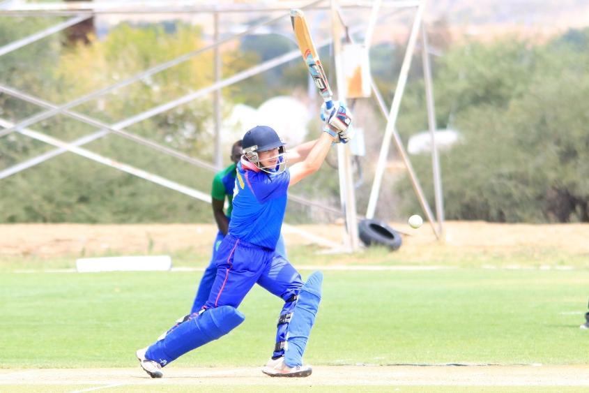 Matthew de Gouveia's fluent 102* lifted Namibia to 260/8