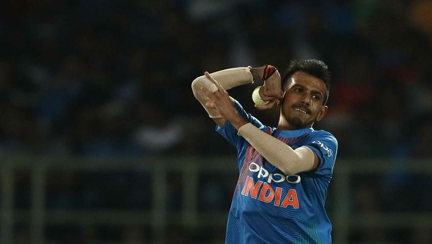 Yuzvendra Chahal conceded just six runs from his four overs and picked up a wicket too