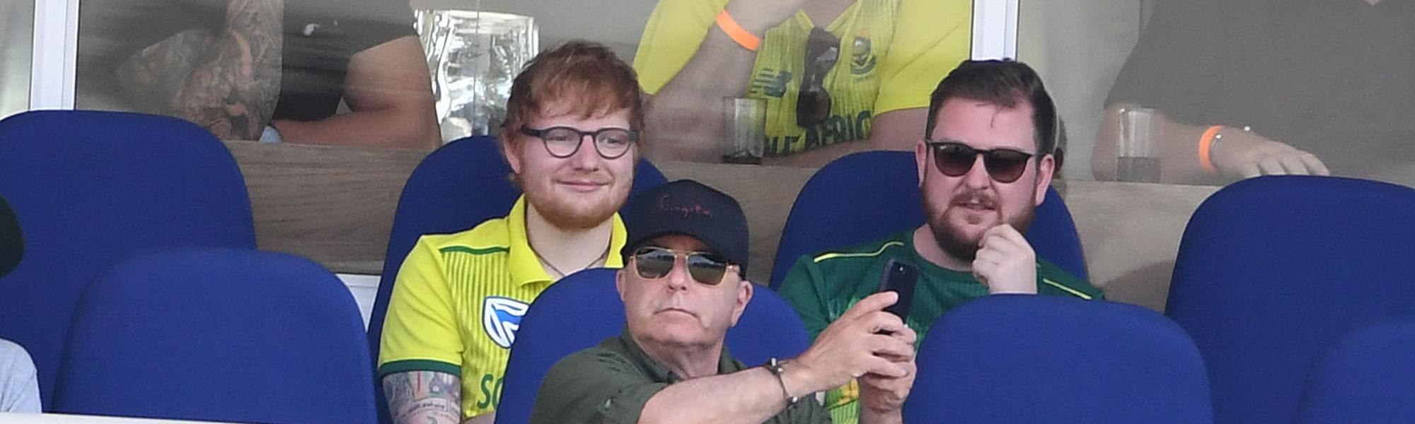Ed Sheeran at Protea game