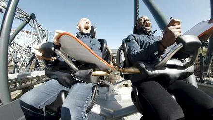 #CWCTrophyTour takes a ride on a roller coaster in Blackpool