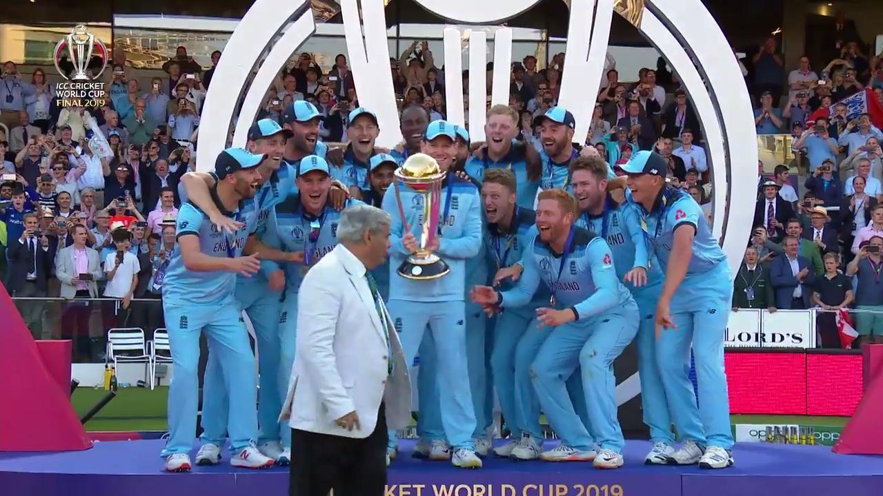 Cwc19 Final Nz V Eng England Lift The World Cup