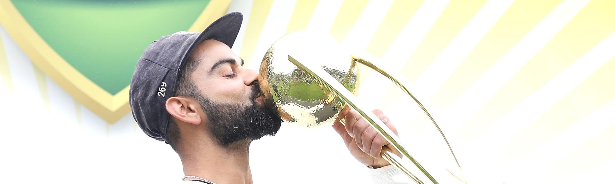 Virat Kohli was chosen as captain of both Test and ODI Team of the Year