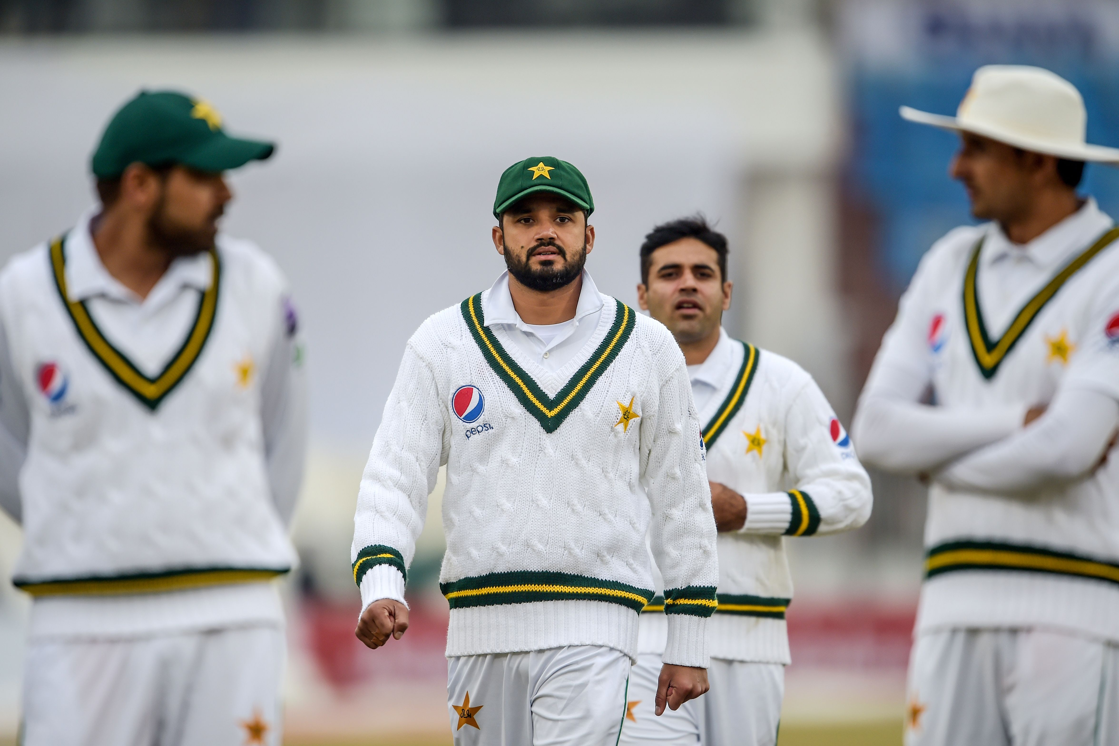 Draw on the cards as Rawalpindi weather caps second day at 18.2 overs