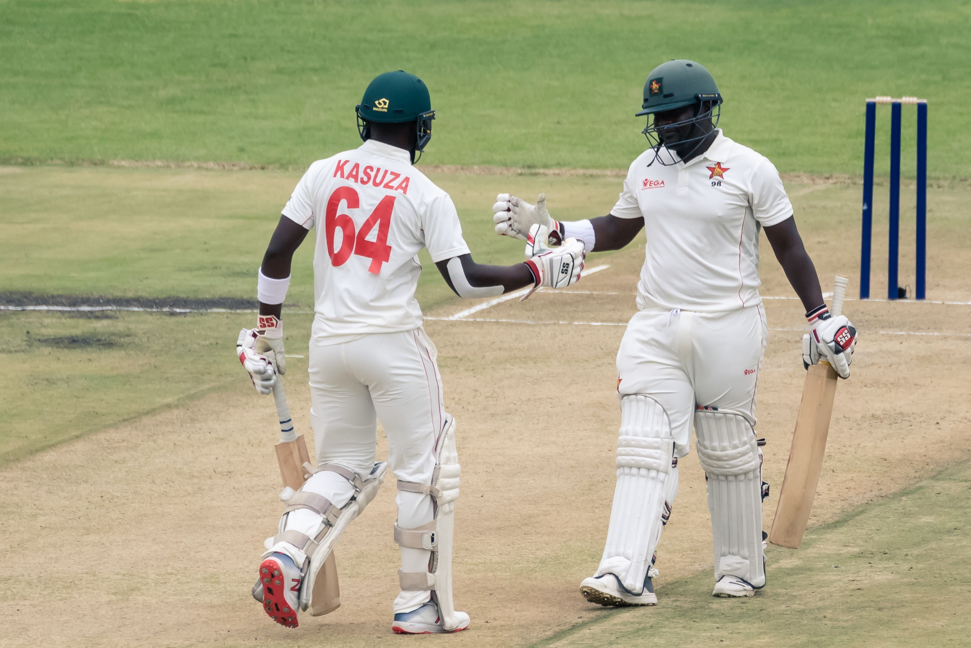 Record-breaking Zimbabwe lay solid platform on opening day against Sri Lanka