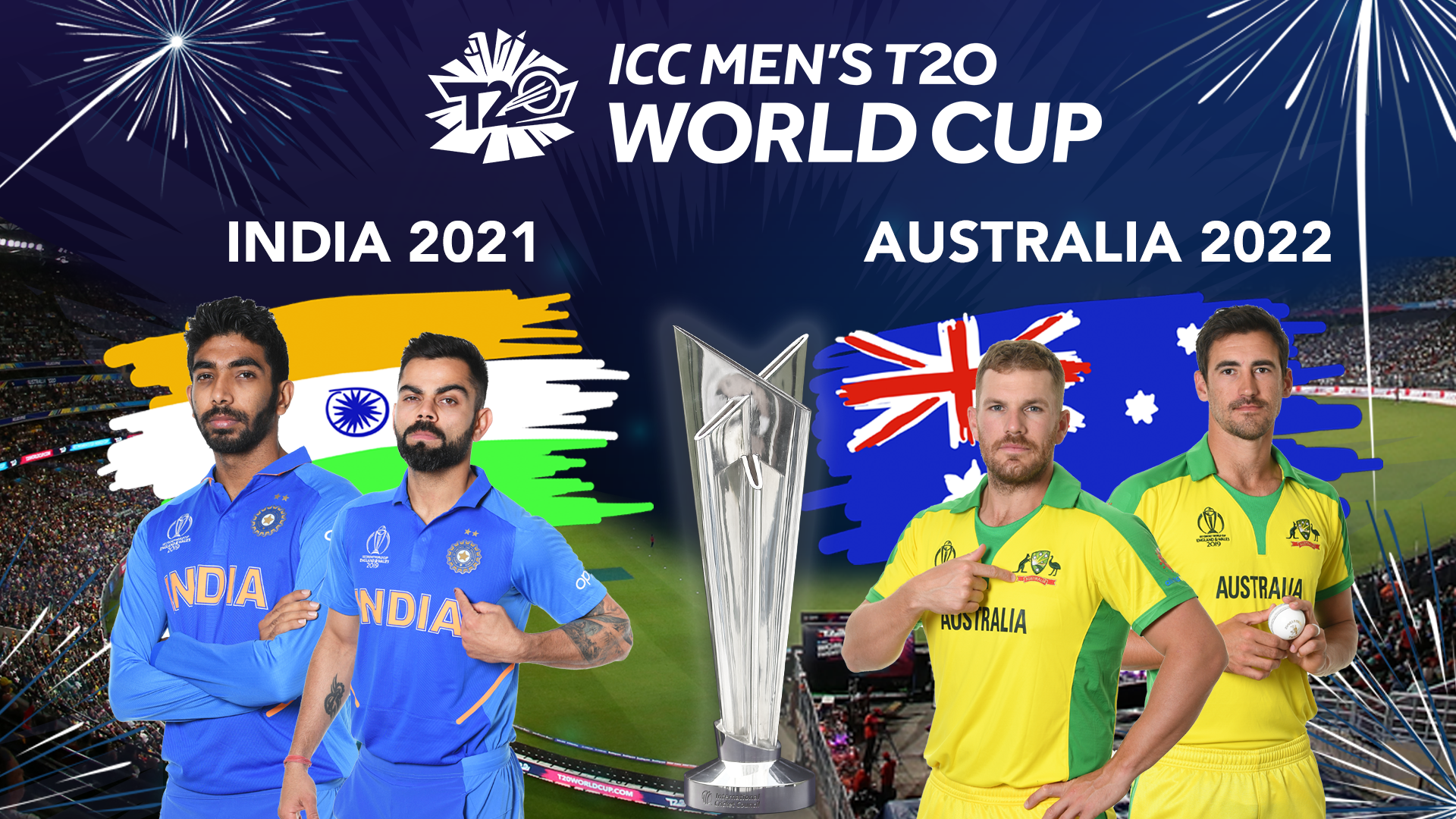 2021 World Cup Calendar Men's T20WC 2021 in India, 2022 in Australia; Women's CWC postponed