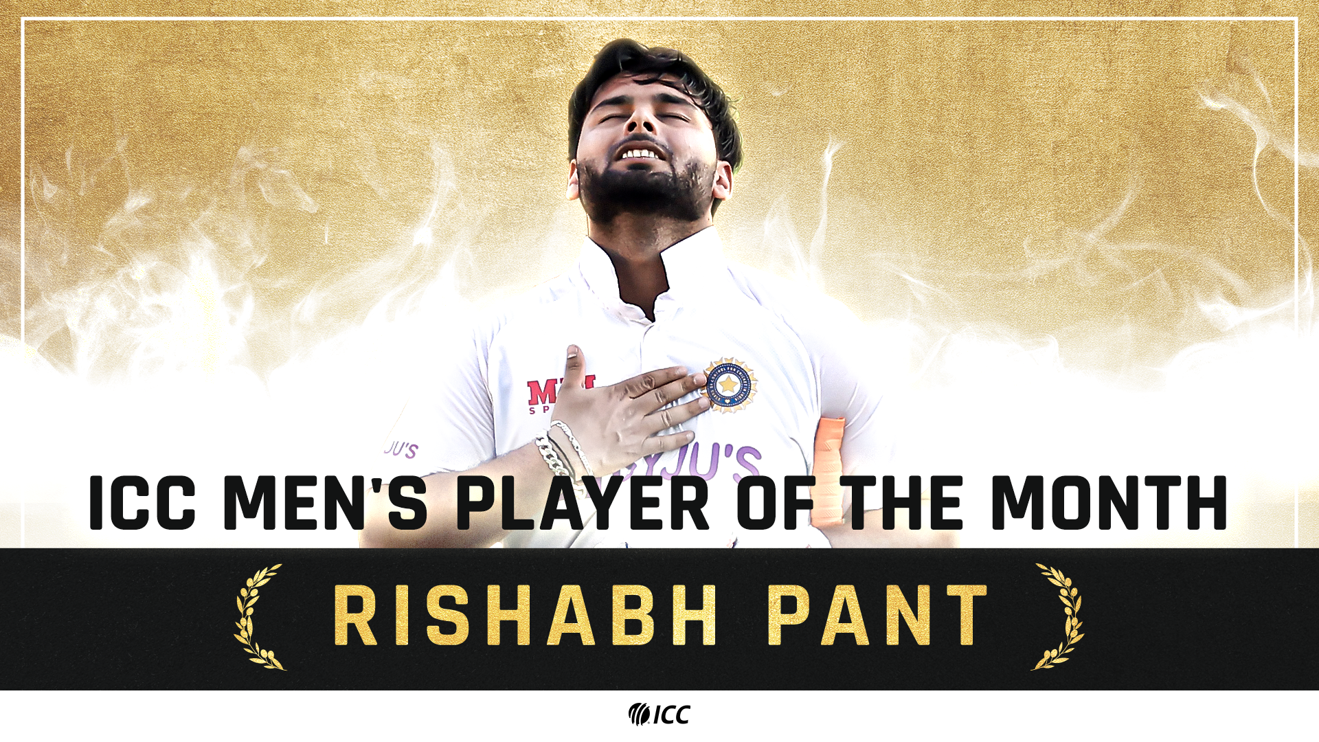 ICC Men's Player of the Month for January 2021: Rishabh Pant - International Cricket Council