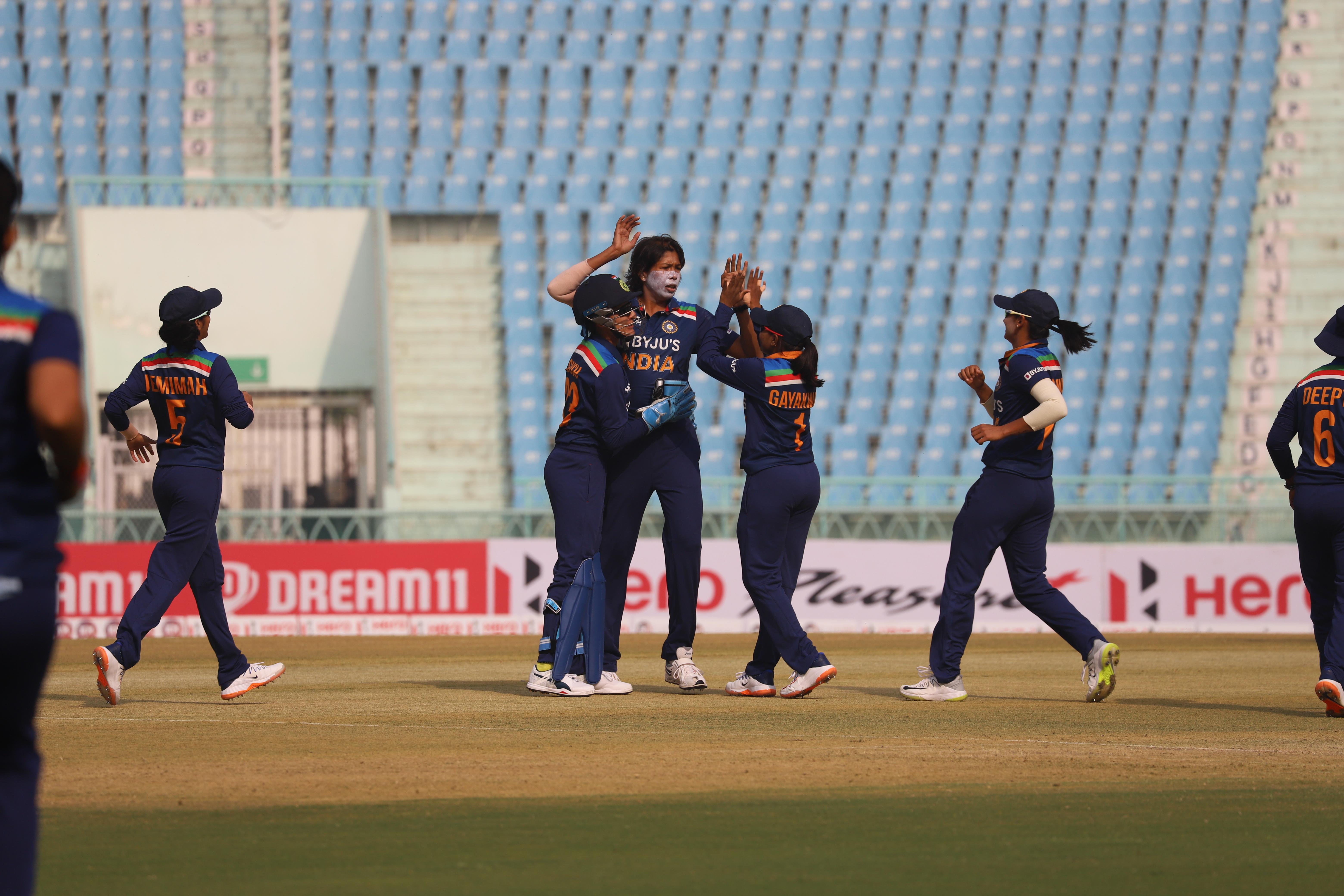 Mandhana, Goswami put on stunning displays as India restore parity - International Cricket Council