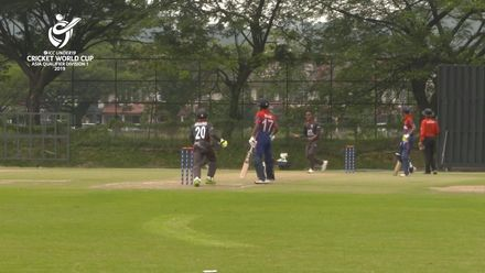 U19 CWC Asia Q Div 1: United Arab Emirates v Nepal – Three of Rishabh Mukherjee's wickets on his way to  figures of 4/64