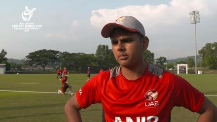 U19 CWC Asia Q Div 1: United Arab Emirates v Nepal – Toss and captains interview
