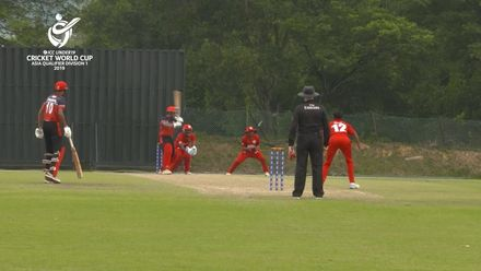 U19 CWC Asia Q Div 1: Oman v Singapore – Aman Desai is POM for 65 off 95 balls