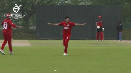 U19 CWC Asia Q Div 1: Oman v Singapore – sharp slip catch from Azam Ali
