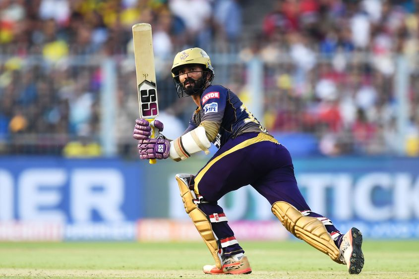 Despite his modest IPL returns so far, Dinesh Karthik's experience is highly valued by team management - AFP