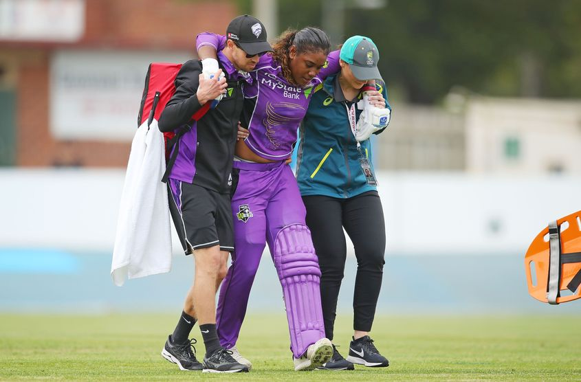 Hayley Matthews had damaged her medial collateral ligament of the knee during WBBL