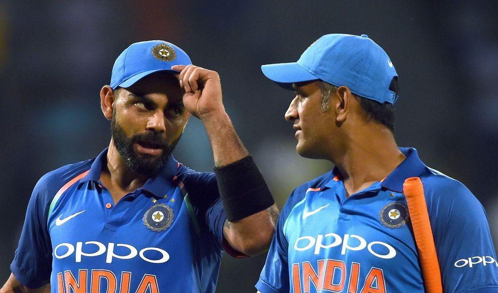 Kohli and Dhoni
