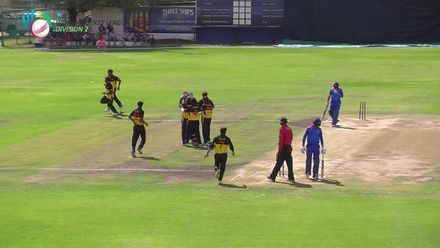 WCL 2: PNG v NAM - Namibia's Craig Williams gets stumped