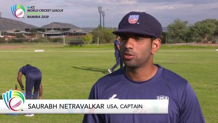 ICC WCLNamibia 2019 Oman v USA Pre-Match Interviews