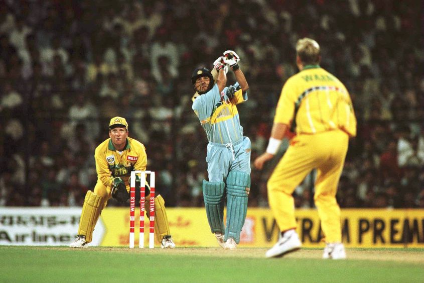 Tendulkar's 90 against Australia came from just 84 balls, but was ultimately in vain