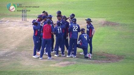 WCL 2:  Namibia v USA - Merwe Erasmus is dismissed for 92