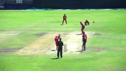 WCL 2: Hong Kong v Oman - Tanwir Afzal goes for 32