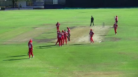 WCL 2: Hong Kong v Oman - Anshuman Rath goes early