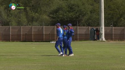 WCL 2: Namibia v Oman – Jatinder Singh caught by Baard for four