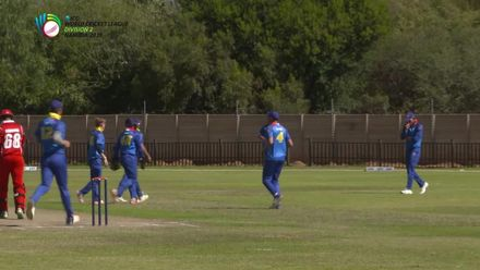 WCL2: Namibia v Oman – Khawar Ali well caught by Erasmus