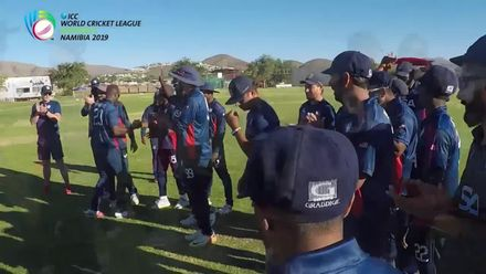 WCL 2: Hong Kong v USA – USA celebrate gaining ODI status