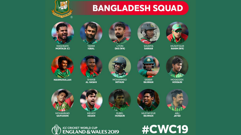 Icc Men S Cricket World Cup 2019 Full Squads