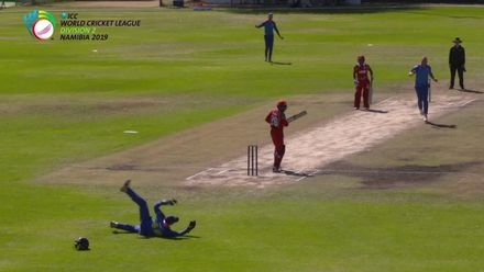 WCL 2, Final: Namibia v Oman – Green's one-handed diving catch
