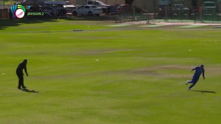 WCL 2, Final: Namibia v Oman – Player of the Match, Jan Frylinck