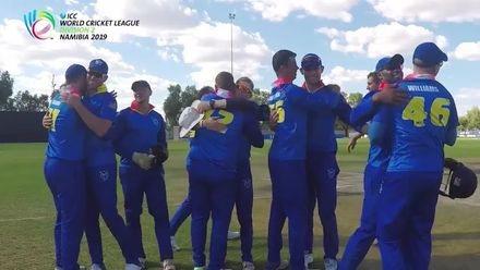 WCL 2, Final: Namibia v Oman – Namibia winning moment