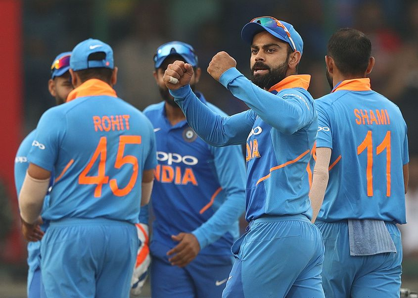 India are now placed fifth in the Men's T20I rankings table
