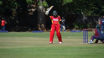 Women's Qualifier 2019 – Africa:  Zimbabwe's Sharne Mayers brings up her fifty
