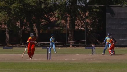Women's Qualifier 2019 - Africa:  Zimbabwe v Rwanda, Sharne Mayers run-out