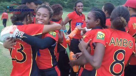 Women's Qualifier 2019 – Africa: Samoa v PNG – PNG winning moment