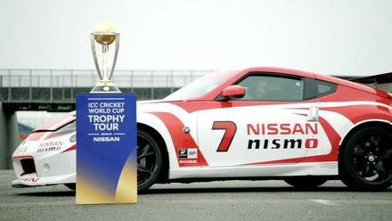 The #CWCTrophyTour goes for a spin at Silverstone!