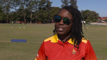 Women's Qualifier 2019 – Africa: Zimbabwe v Nigeria – Maryanne Musonda speaks before the game