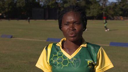 Women's Qualifier 2019 – Africa: Zimbabwe v Nigeria –Blessing Etim speaks before the game