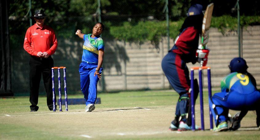 Tanzania's Nasra Saidi bagged 3-8 in four overs
