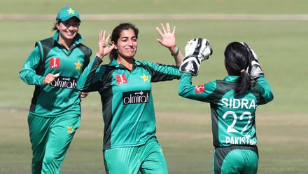 Aliya Riaz took 2/49, both of them top-order wickets