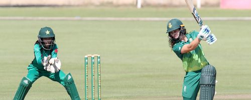 Laura Wolvaardt (in picture) and Lizelle Lee struck half-centuries to give South Africa a good start