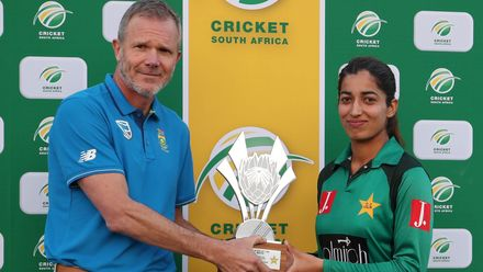 Player of the Match Aliya Riaz chipped in with the bat as well to tie the scores