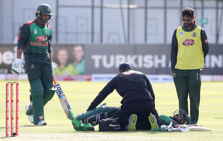 An injury to Shakib was one blot on an otherwise sunny day for Bangladesh
