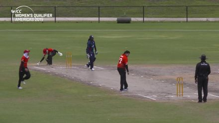 Women's Qualifier, 2019 - Americas: USA v Canada - Match 2 - Mahwish Khan takes two in an over