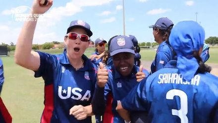 Women's Qualifier 2019 – Americas: USA v Canada, Match 2 – USA celebrate their win