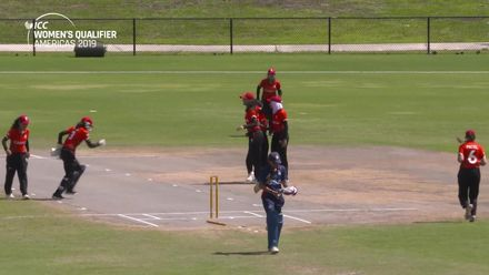 Women's Qualifier 2019 - Americas: USA v Canada, Match 3 - Canada claim an early wicket