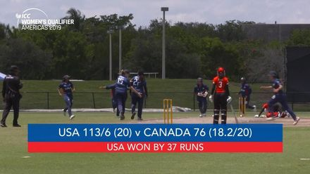 Women's Qualifier 2019 – Americas: USA v Canada, Match 2, highlights