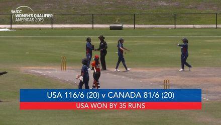 Women's Qualifier 2019 – Americas: USA v Canada, Match 3, highlights