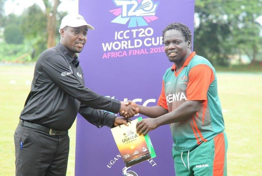 Shem Ngoche receives his Player of the Match award