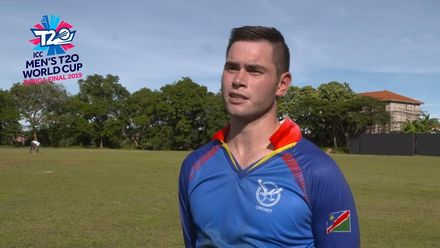 Men's T20 World Cup Africa Final Qualifier: GHA v NAM – POM – Namibia's Stephen Baard
